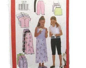 Butterick 6038 Girls Fashion Essentials Shirt Camisole Skirt and Pants UNCUT