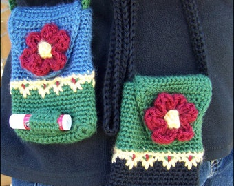 Mini Purse with Flower Button - CROCHET PATTERN
