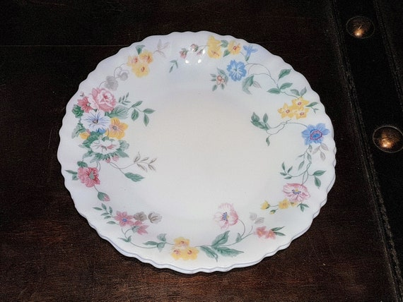 & Vintage 1980u0027s Arcopal France Salad plates milk glass