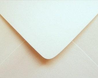10 OPAL / ECRU  METALLIC envelopes C6  for cards and invitations / wedding envelopes