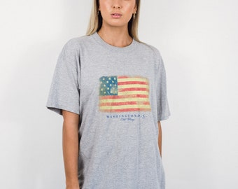 Vintage USA Vacation T-Shirt || Vintage American Flag T-Shirt || USA Shirt