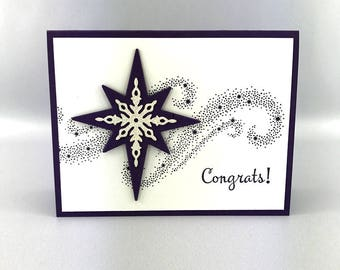 Hand Stamped Congratulations Card - Good Job Card -  Handmade Congrats Card - Best Wishes Card - Stampin' Up! Card - Congrats Greeting Card