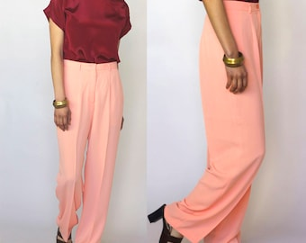 a certain softness -- vintage 80s high-waisted peach pants size M