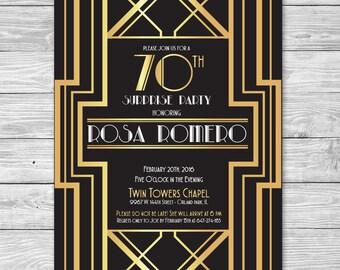 Roaring 20s Birthday Party Invitation