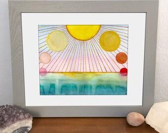 Summer Solstice Print - 10x8