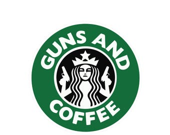 Gun and Coffee (Free Same day Shipping within the USA )