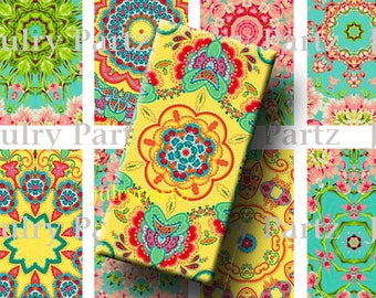 CARAVAN, 1x2 images, Printable Digital Images, Cards, Gift Tags, Stickers, Scrabble Tiles, Magnets, junk gypsy style