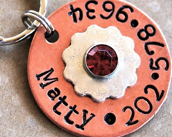 Mattie Mixed metal with a little Bling Pet ID tag