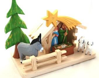 Nativity Scene/ SMALL Nativity/ folk Nativity/ polish folk art