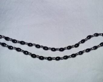 Hematite double bracelet