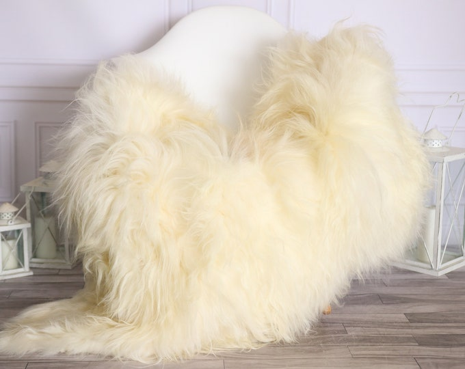 Icelandic Sheepskin | Real Sheepskin Rug |  Super Large Sheepskin Rug Ivory | Fur Rug | Homedecor #MIHISL11