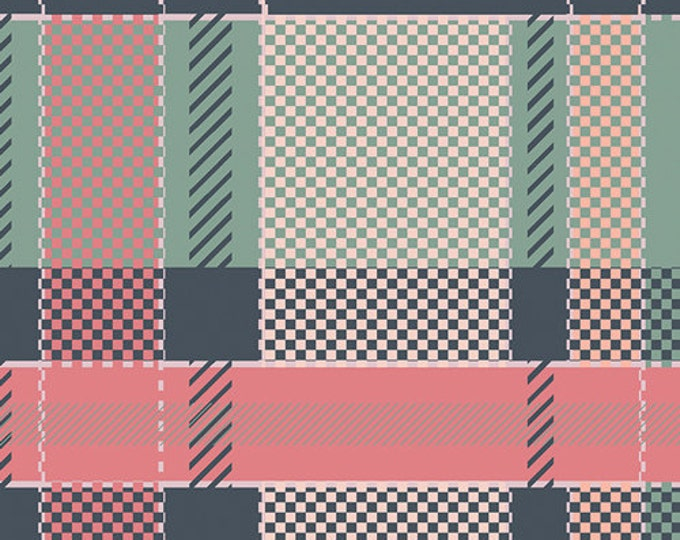 Mad Plaid by Art Gallery Fabrics - Coral Views Plaid - Cotton Woven Fabric
