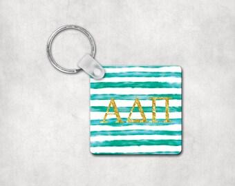 Alpha Delta Pi Keychain, Key Tag, Sorority gift, Big Little Gift, Alpha Delta Pi Gift, ADPi
