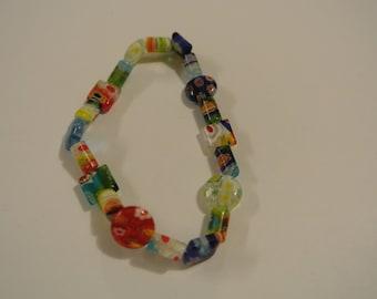 Multi-Colored Beaded Stretch Bracelet