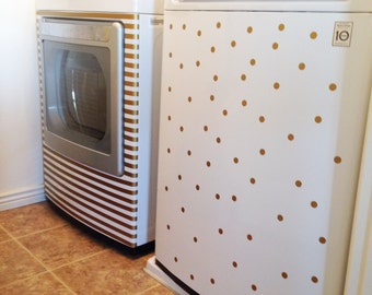 Washer Dryer Polka Dot and Stripes Vinyl Decal