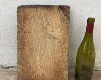 ANTIQUE VINTAGE FRENCH bread or chopping cutting board wood 09041820