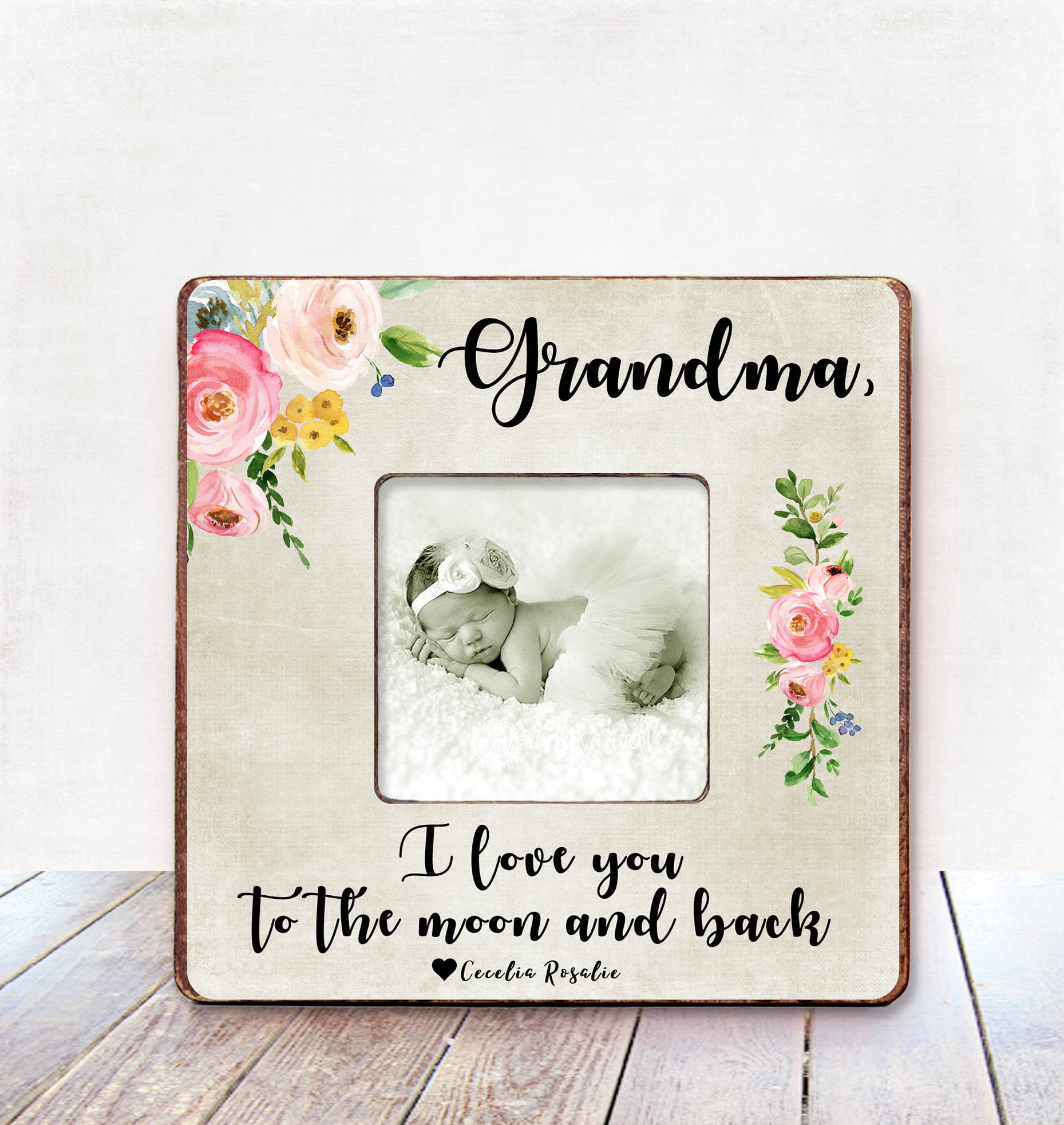 Grandma Mothers Day Gift Nana Grandmother Birthday Frame New Personalized From