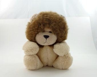 Vintage 80s  Lion Plush, Polar Plush, Lion Love, Lion Gift, Lion Collectible, Lion Stuffed Animal, Big Cat Plushie, Stuffed Lion, Lion Toy