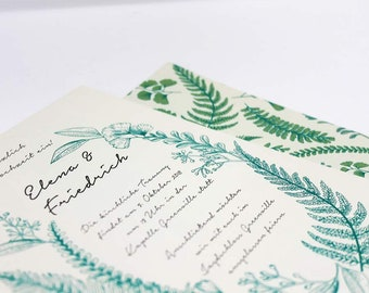 Wedding Invitation and InfoCard Botanical
