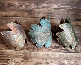 Copper cuff bracelet  for women Real oak leaf bracelet Copper bracelet, eco friendly jewelry, copper jewelry, 7th anniversary gift for wife