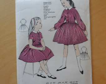 Vintage Girl's Dress Pattern - Maudella 1315 REDUCED PRICE