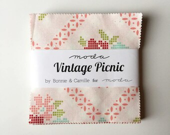Vintage picnic charm pack