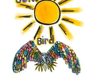 Sun , Bird, Bowl.