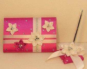 Wedding Guest Book and Pen Set -Custom Made