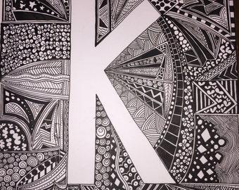 Doodle art | Etsy