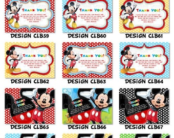 Mickey Mouse Thank You Card, Clubhouse Thank You Card, Mickey and Friends Thank You Card, DIY, Disney Printable Thank You Card