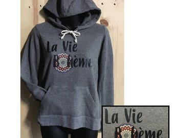 La Vie Boheme Fleece Women's Hooded Pullover / The Bohemian Life / Boho Chic / Ladies Hoodie / Bohemian Lifestyle / Comfy Fall Hoodie