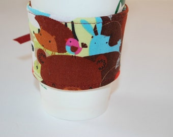 Coffee Cozy, Cup Cozies, Home and Living Cozy, Housewares Covers and Cozies, Coffee and Tea, Ecofriendly Cozy, Handmade Coffee Sleeve