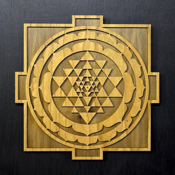 Sri Yantra Mandala Laser Cut Wall Art Shiva Shakti Shri