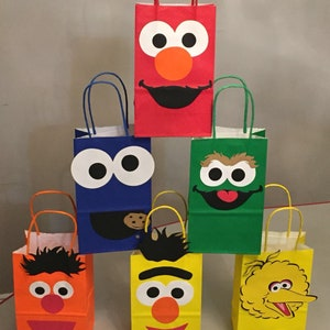 10 Sesame Street favor bags