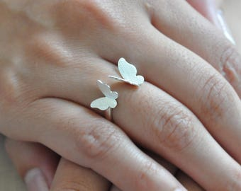 100% Sterling Silver Butterfly Ring, Silver Butterfly Ring, Butterfly Jewelry, Butterfly Ring, Sterling Silver Butterfly Ring