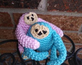 Sloth, Crochet, Little Sloth Pet, Stuffed Sloth, Plushie, Baby Sloth, Pocket Pet