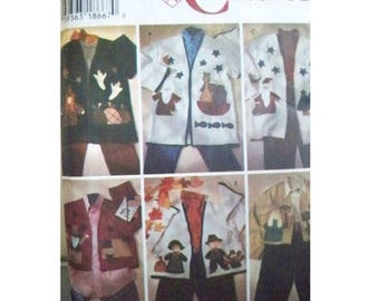 Simplicity 7032 Appliqued Jacket Pattern - Uncut