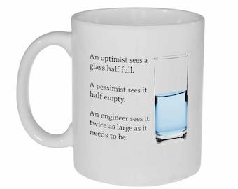 Engineer Glass of Water- funny coffee or tea mug