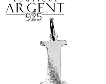Silver 925 charm letter I initial name