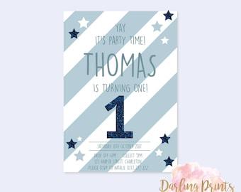 Birthday Boy Invitations • DIGITAL FILE • Personalised and print ready
