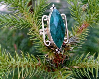 Green Marquis Ring