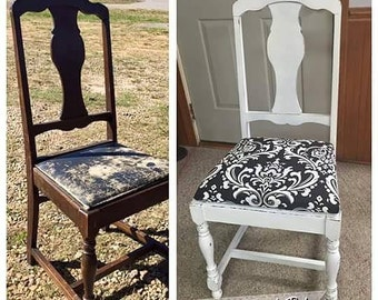DIY - How to instructions for a wood chair - Paint & Upholstery