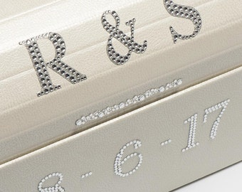 5.5cm Self Adhesive Diamante Glitter Letter Embellishments for Crafts Wedding Boxes and Invitations