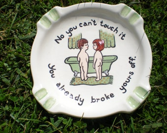 funny ash tray number three