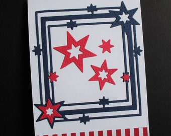 4th of July Card, Fourth of July, Independence Day Card, Patriotic Card, Handmade Greeting Card,Spread Kindness,Share Kindness,Greeting Card
