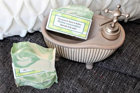 savon la soie melon concombre fait main naturel. Black Bedroom Furniture Sets. Home Design Ideas