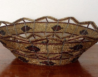 Decorative Wire Basket. 1970's.