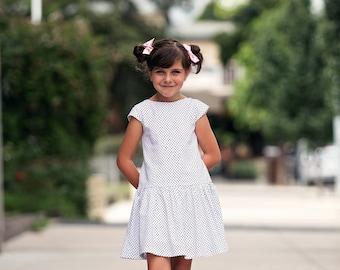 Josephine Dress, PDF Sewing Pattern, girls dress pattern, girls pattern pdf, peter pan collar, girls pleated dress, sewing pattern,