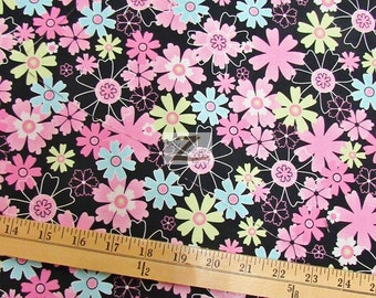 """Garden Floral 100% Cotton Fabric - 60"""" Width Sold By The Yard (FH-777)"""