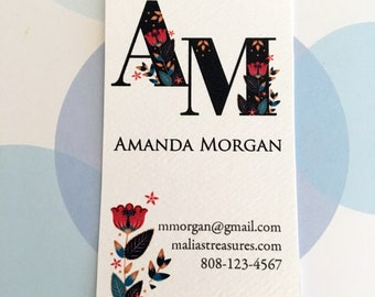 Business Cards, Printed Business Card, Custom Business Cards - Set of 50